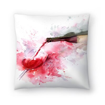 Red Wine Pour Throw Pillow Size: 14 x 14