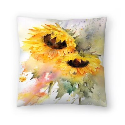 Sunflower Duo Throw Pillow Size: 16 x 16
