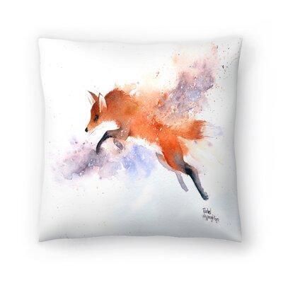 Jumping Fox Throw Pillow Size: 14 x 14