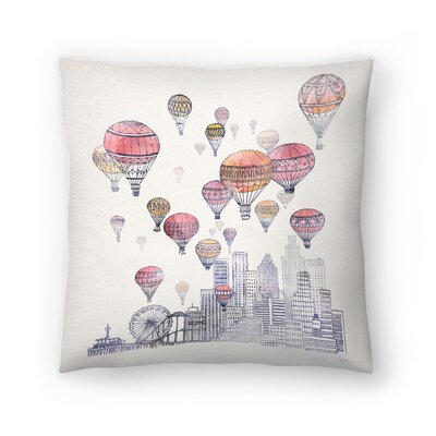 Voyages Over Santa Monica Throw Pillow Size: 18 x 18
