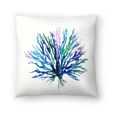 Coral 1 Throw Pillow Size: 18 x 18