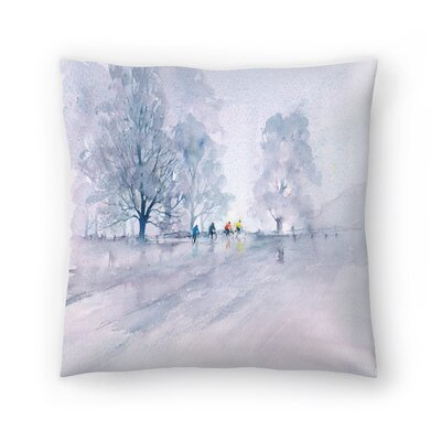 Country Cyclists Throw Pillow Size: 16 x 16
