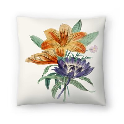 American Flora Lilium Throw Pillow Size: 18 x 18