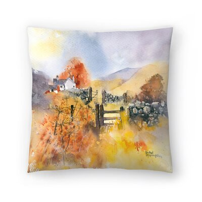 Autumn Gold Throw Pillow Size: 16 x 16