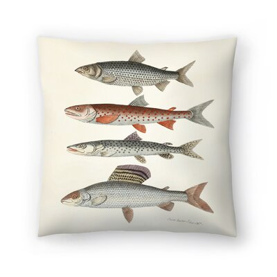 Fourfish Throw Pillow Size: 14 x 14