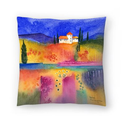 Flowery Fields Throw Pillow Size: 14x14