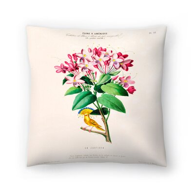 Flored Amerique Lajusticia Throw Pillow Size: 18 x 18