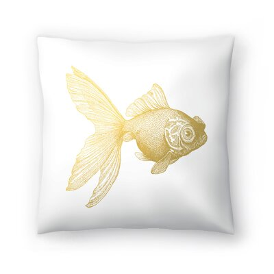 Goldy The gold Fish Throw Pillow Size: 14 x 14