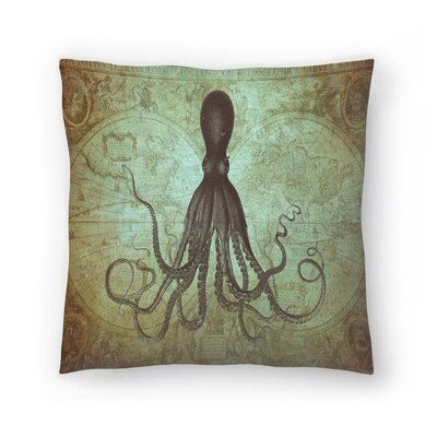 Gorgeous Green Octo Map Throw Pillow Size: 18 x 18