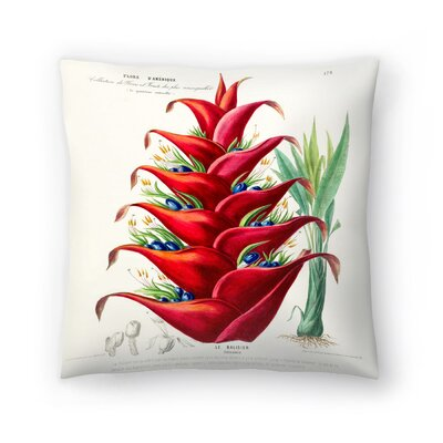 Flored Amerique Lebalisier Throw Pillow Size: 14 x 14