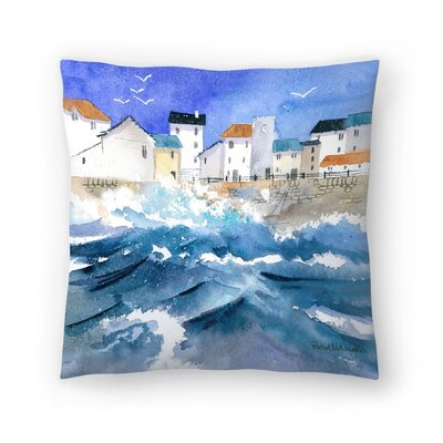 Stormy Harbour Throw Pillow Size: 18 x 18