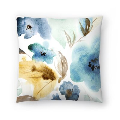 Watercolor Blue Throw Pillow Size: 16 x 16