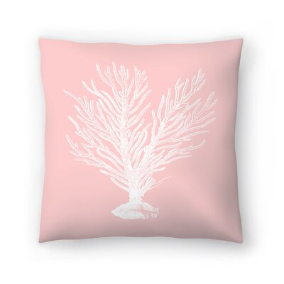 Mil Pink Finger Coral Throw Pillow Size: 16 x 16