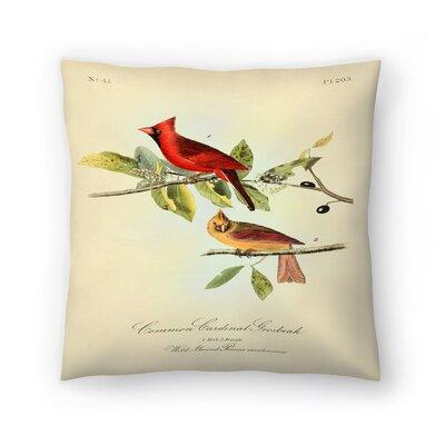 Red Cardinal Throw Pillow Size: 16 x 16