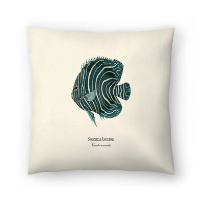 Semi Circle Ange Fish Throw Pillow Size: 14 x 14