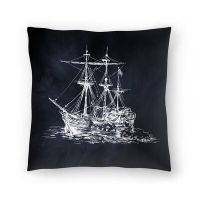 Ship 1 Throw Pillow Size: 14 x 14