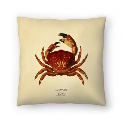 Mud Crab Throw Pillow Size: 16 x 16
