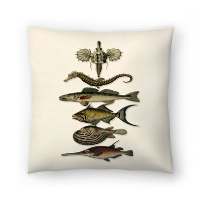 Sixfish Throw Pillow Size: 18 x 18