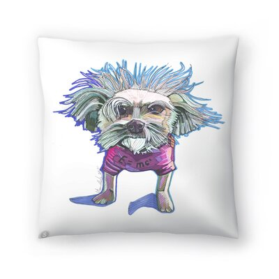 Einstein Dog Bert Throw Pillow Size: 20 x 20