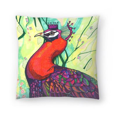 Belinda Peacock Throw Pillow Size: 20 x 20