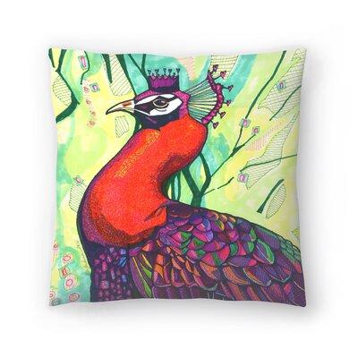 Belinda Peacock Throw Pillow Size: 16 x 16