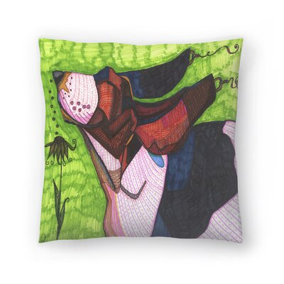 Basset Hound Throw Pillow Size: 14 x 14