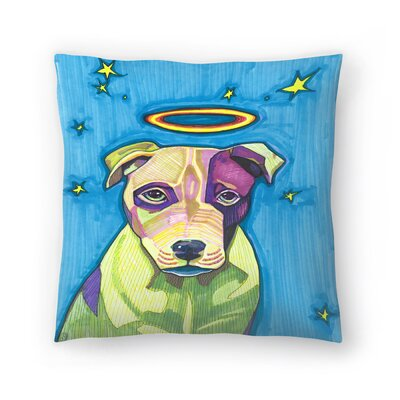 Halo Dog Pete Throw Pillow Size: 18 x 18