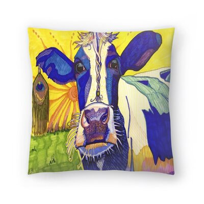 Hippie Cow Asha Throw Pillow Size: 16 x 16