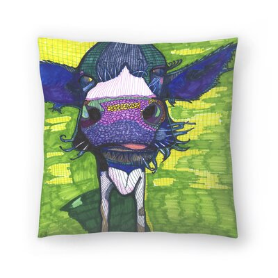 Cow in Face Throw Pillow Size: 16 x 16