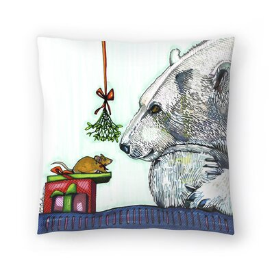 Yasmin and Karl Polar Bear And Mouse Throw Pillow Size: 14 x 14