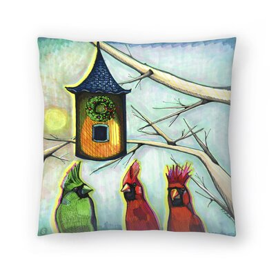 Cardinals K R Mitt Throw Pillow Size: 18 x 18