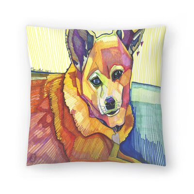 Mkm Dog Throw Pillow Size: 18 x 18