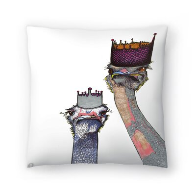 Ostriches Lisa and Amy Throw Pillow Size: 18 x 18
