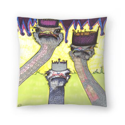 Ostriches Throw Pillow Size: 20 x 20