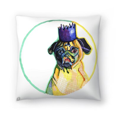 Pug Ester Throw Pillow Size: 18 x 18