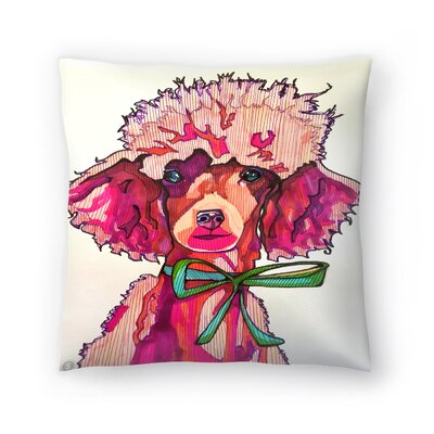 Poodle Paris Throw Pillow Size: 18 x 18