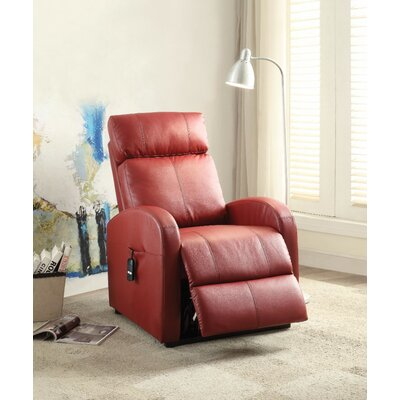 Wolfson Power Lift Assist Recliner Upholstery Color: Red