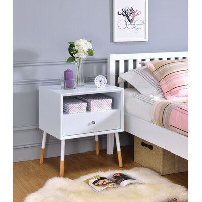 Ferris End Table Table Top Color: White