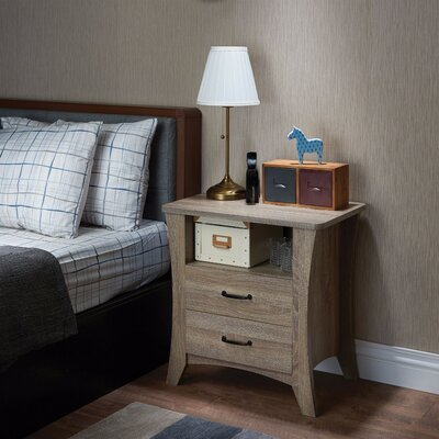 Seefeldt 2 Drawer Nightstand