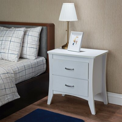 Seefeldt 2 Drawers Nightstand