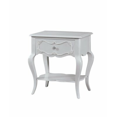 Hagberg Beautiful 1 Drawer Nightstand Color: Gray