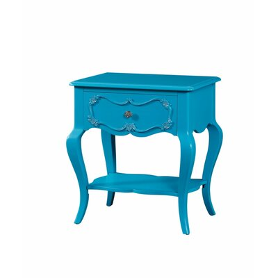 Hagberg Beautiful 1 Drawer Nightstand Color: Blue