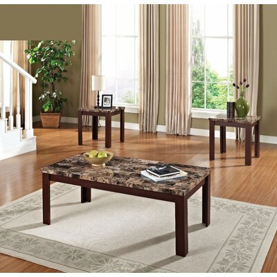 Cai Coffee Table Set Table base color: Brown