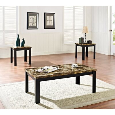 Cai Coffee Table Set Table base color: Black