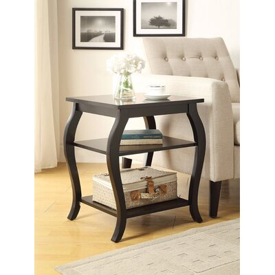 Fosdick End Table Table Top Color: Black