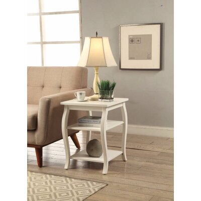 Fosdick End Table Table Top Color: White
