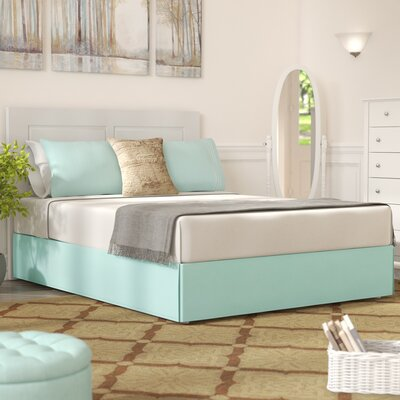Tiemann Bed Skirt Size: King, Color: Aqua Marine
