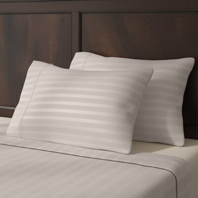 Satin 4 Piece Sheet Set Color: White