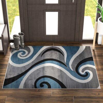 Mckenzie Blue/Gray Area Rug Rug Size: 4 x 5