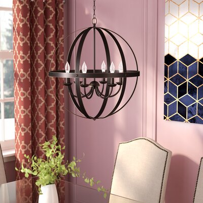 Joon Indoor 6-Light LED Candle Style Chandelier Finish: Oil Rubbed Bronze